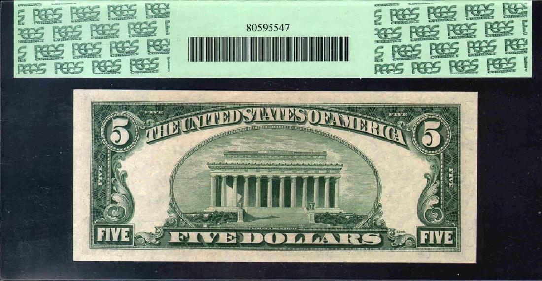 1935B $5 Silver Certificate Star Note PCGS 66PPQ - 2