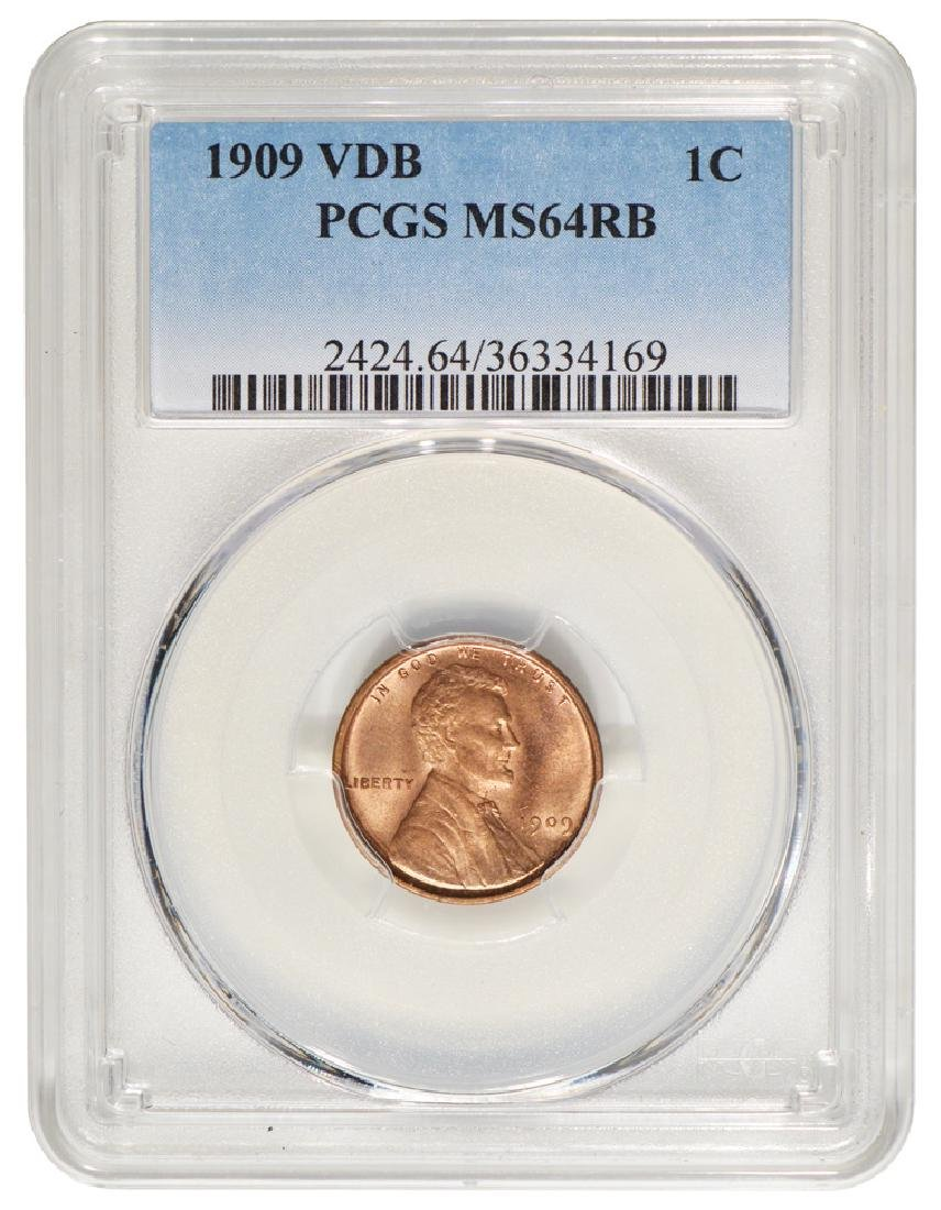 1909 VDB Lincoln Cent PCGS MS64RB