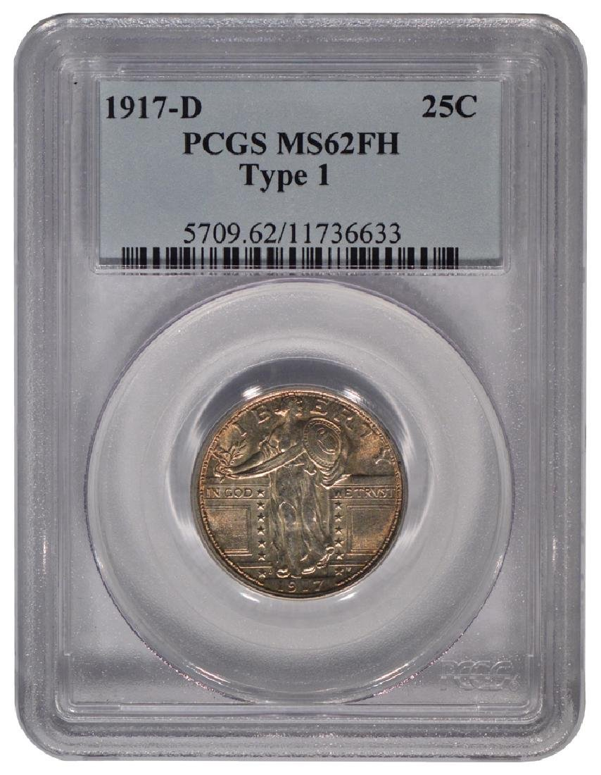1917-D Standing Liberty Quarter PCGS MS62FH