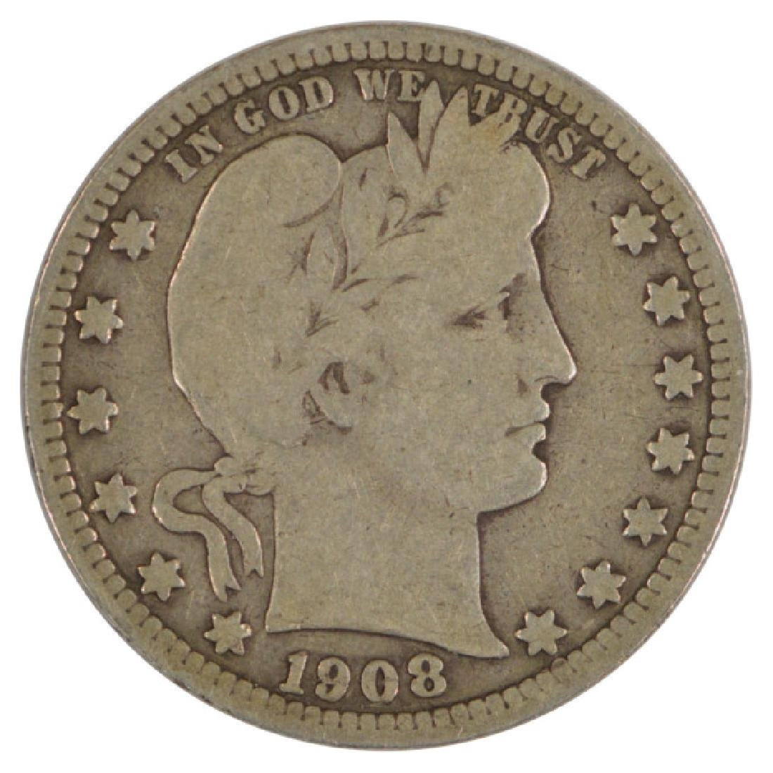 1908-S Barber Quarter Coin