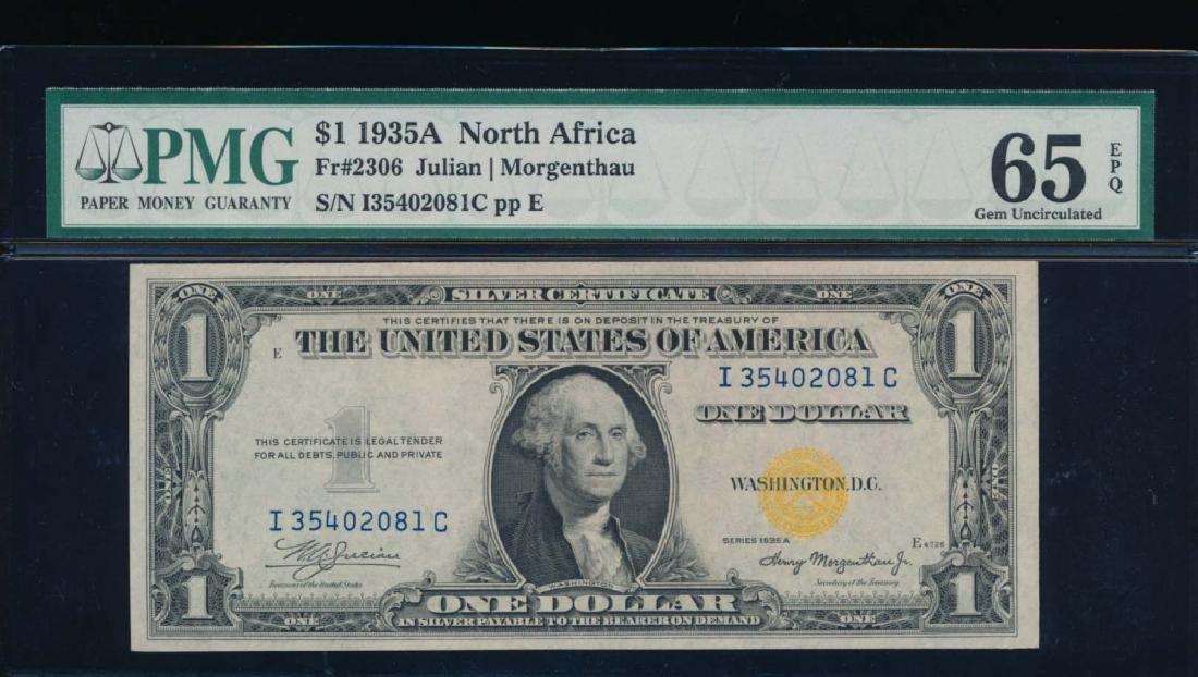 1935A $1 North Africa Silver Certificate PMG 65EPQ