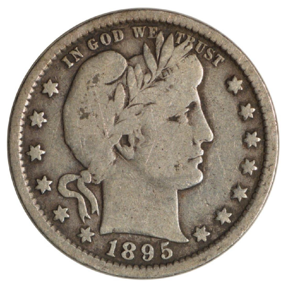 1895 Barber Quarter Coin