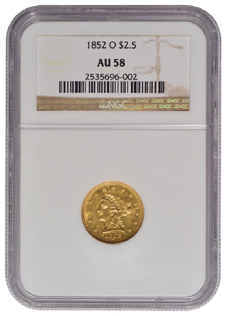 1852-O $2.5 Liberty Head Quarter Eagle Gold Coin NGC