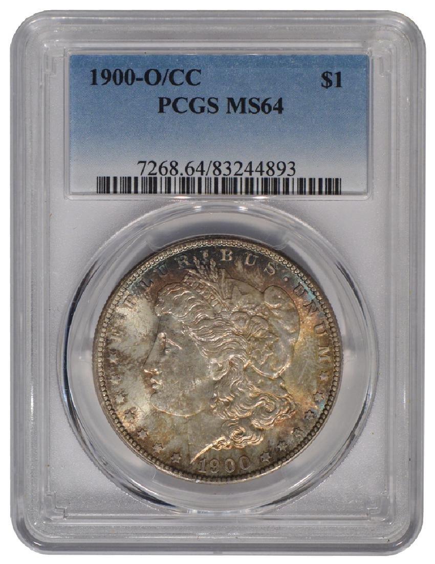 1900-O/CC $1 Morgan Silver Dollar Coin PCGS MS64