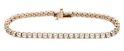 18KT Rose Gold 500ctw Diamond Tennis Bracelet