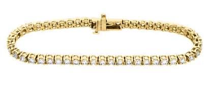 14KT Yellow Gold 500ctw Diamond Tennis Bracelet