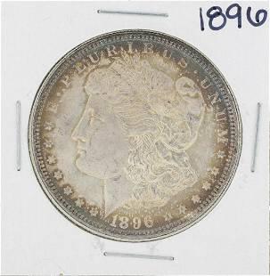 1896 1 Morgan Silver Dollar Coin Great Toning