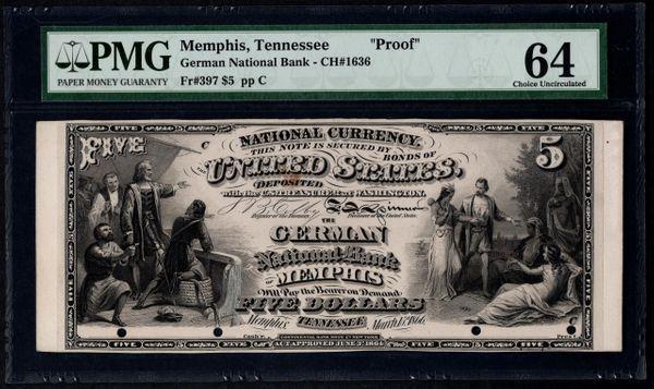 Original Series $5 The German National Bank Memphis