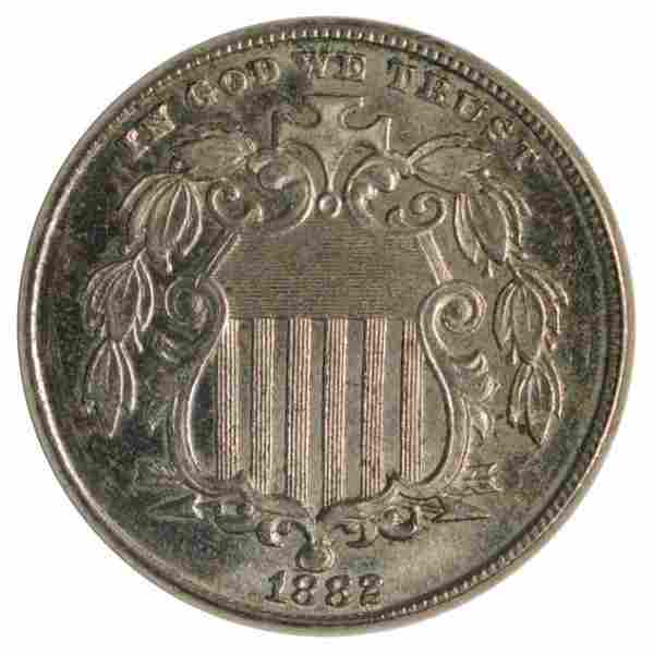 1882 Shield Nickel Coin