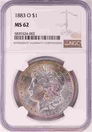 1883-O $1 Morgan Silver Dollar Coin NGC MS62 Amazing