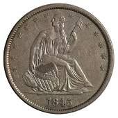 1845-O Seated Liberty Half Dollar Coin