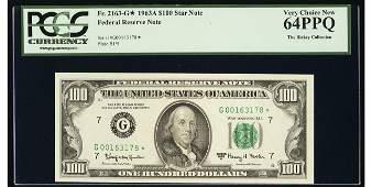 1963A $100 STAR Chicago FRN PCGS 64PPQ