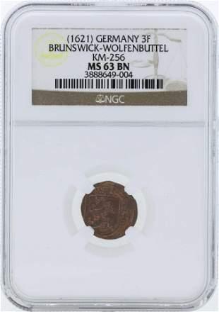 1621 Germany 3F Brunswick-Wolfenbuttel KM-256 Coin NGC