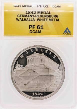 1842 Germany-Regensburg Walhalla White Metal Medal