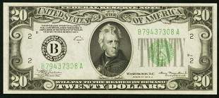 1934A $20 New York Federal Reserve Note