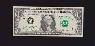 1974 $1 STAR Chicago Federal Reserve Note