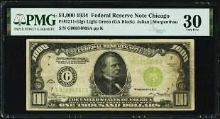 1934 $1000 Chicago FRN PMG 30