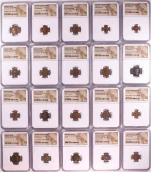 Lot of (20) Different Ancient Roman Empire Coins NGC