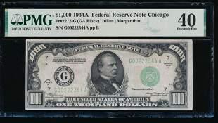 1934A $1000 Chicago FRN PMG 40