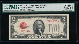 1928G $2 Legal Tender Note PMG 65EPQ