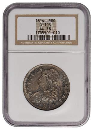 1814 Capped Bust Half Dollar NGC AU58