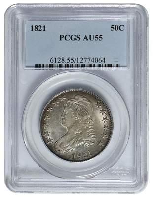 1821 Capped Bust Half Dollar PCGS AU55