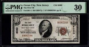 1929 $10 Ocean City NJ National Bank PMG 30