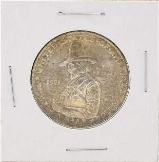 1921 Pilgrim Centennial Commemorative Half Dollar Coin