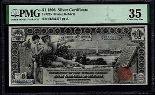 1896 $1 Educational Silver Certificate PMG 35