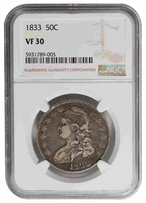 1833 Capped Bust Half Dollar NGC VF30