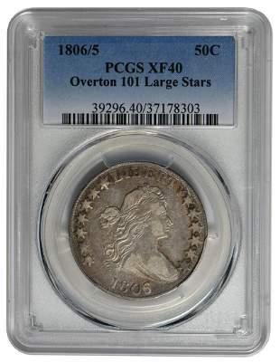1806/5 Draped Bust Half Dollar PCGS XF40