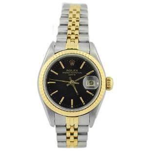 Rolex Ladies Date 18KT Yellow Gold & Steel Watch