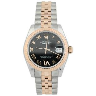 Rolex Ladies Datejust 18KT Rose Gold and Steel Watch