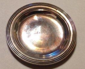 vintage Gorham Sterling silver coin trinket dish