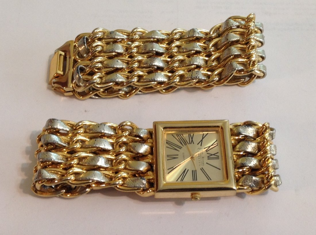 estate Joan Rivers classic watch and bracelet set