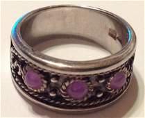 Estate vintage Sterling silver fine gemstone ring