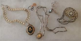 Estate lot of old  Victorian assorted jewelry