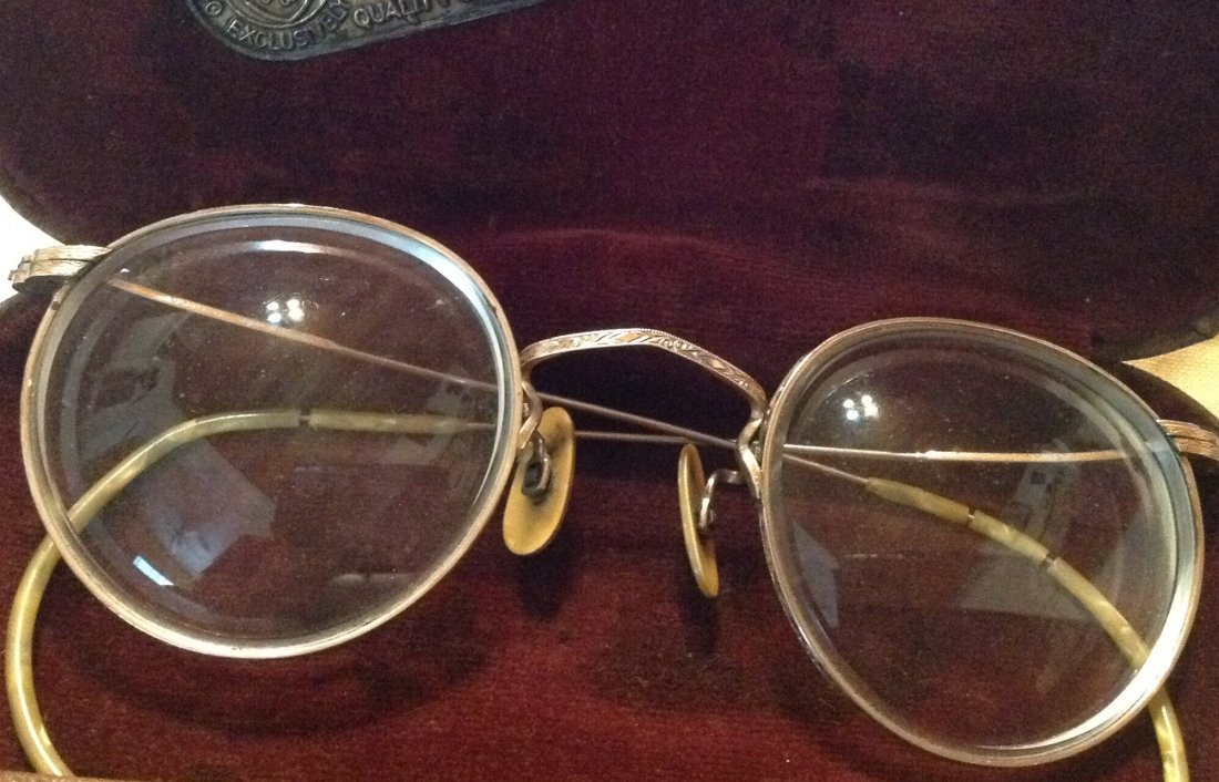 Estate antique goldfilled spectacles and case (R) - 2