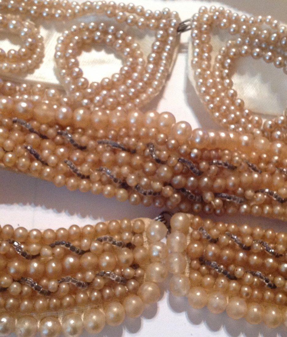 Estate vintage lot of pearl collars (R) - 2