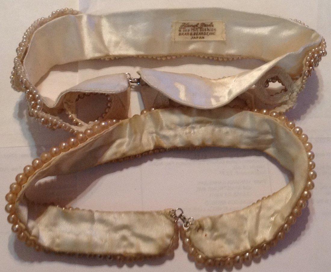 Estate vintage lot of pearl collars (R) - 3