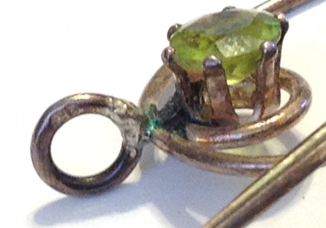 Estate vintage Sterling Multi gemstone palet pendant - 3