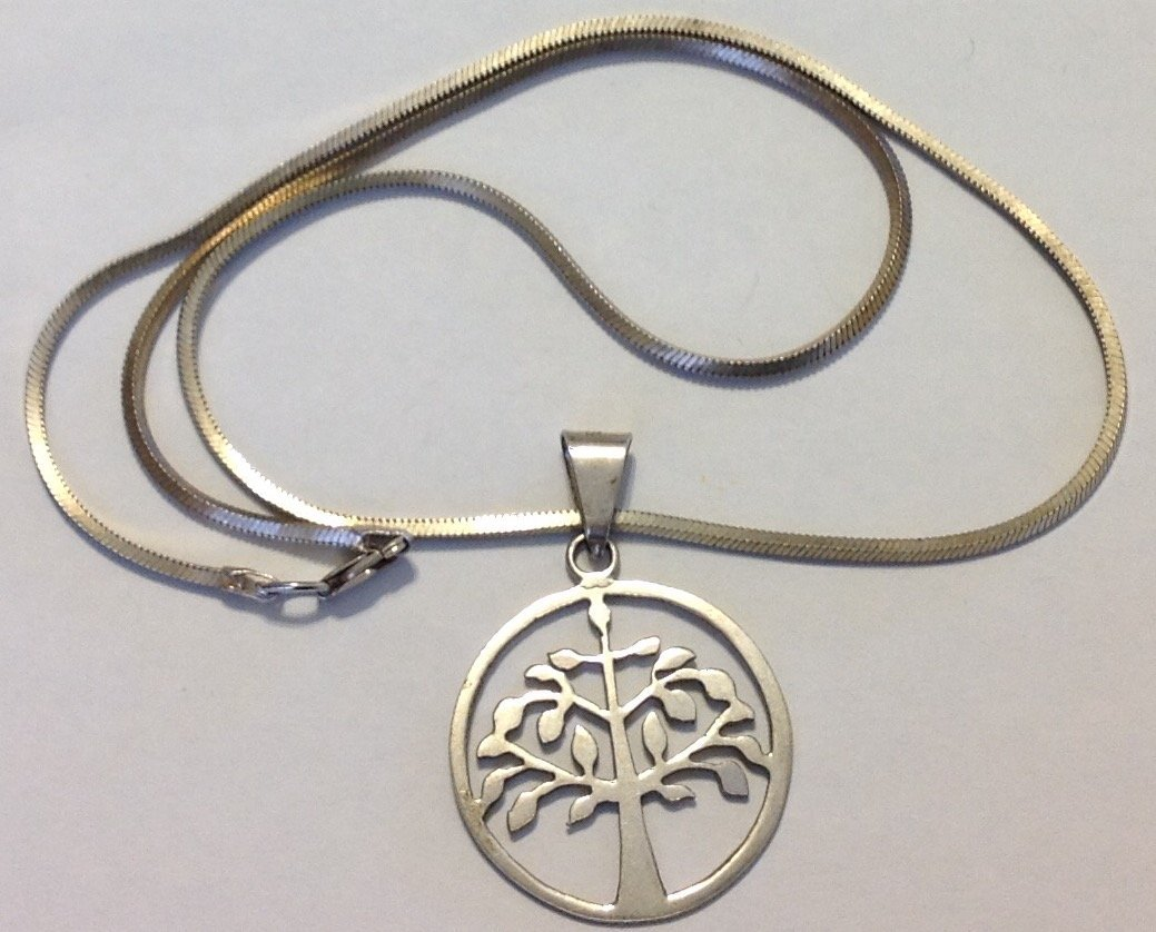 Estate vintage Sterling 950 tree of life pendant