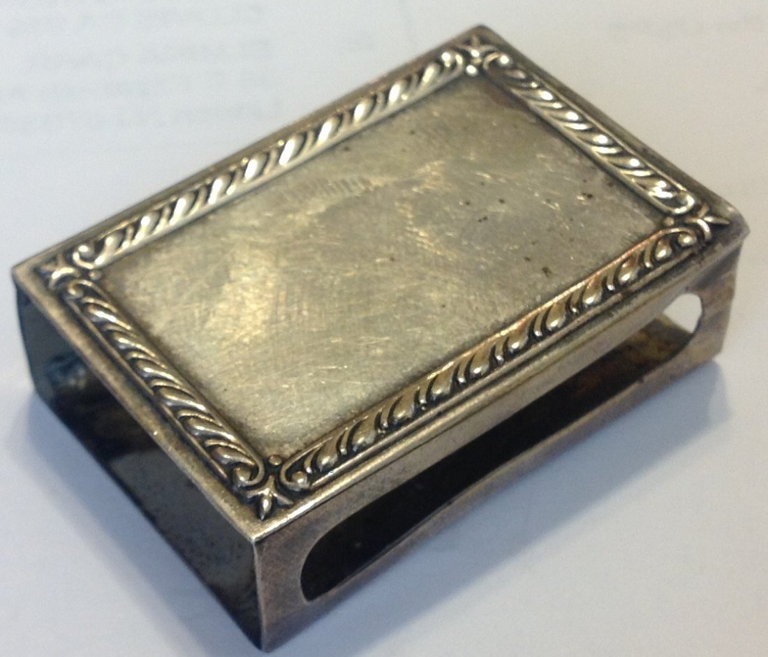 Estate antique Webster sterling match vesta cover