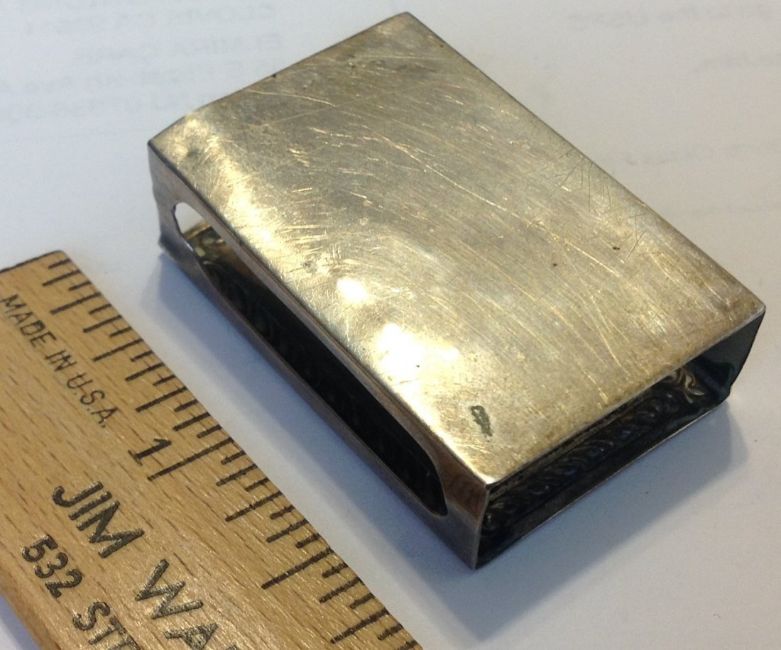 Estate antique Webster sterling match vesta cover - 2