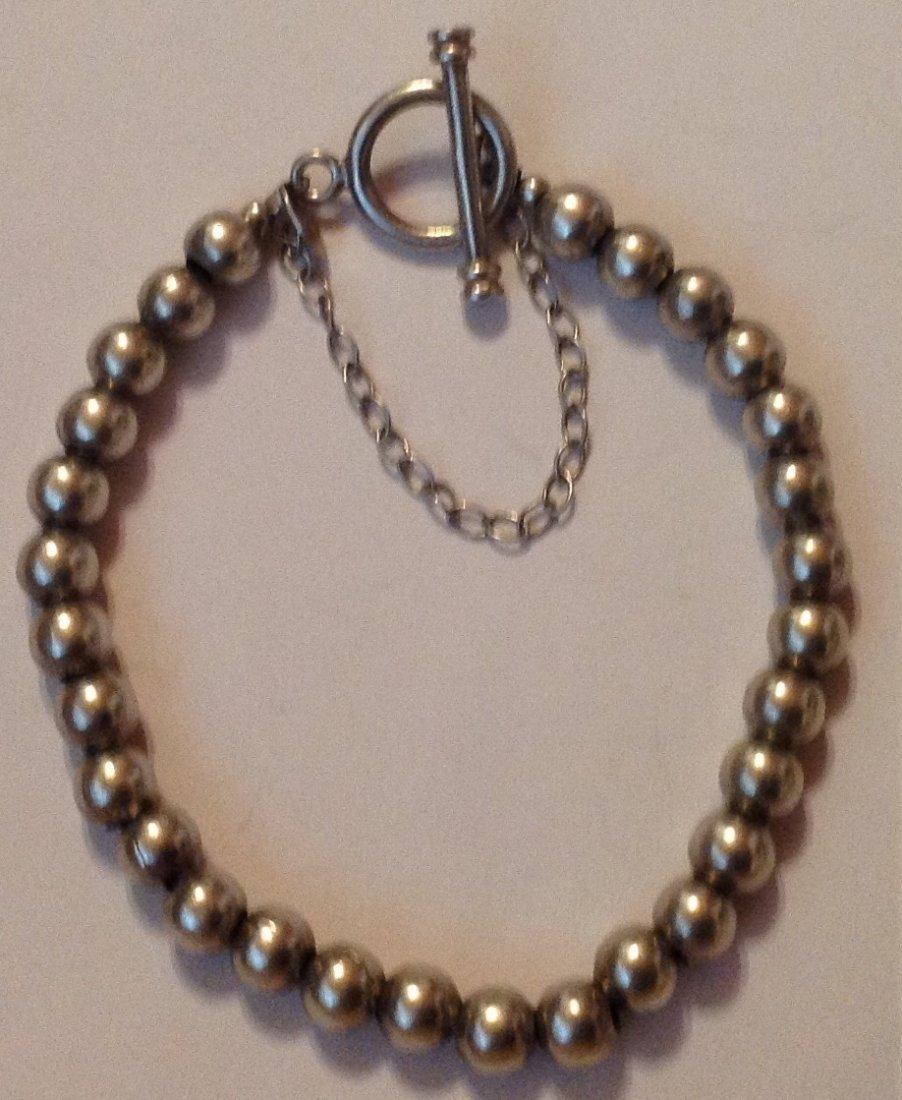 Estate Sterling silver Silpada ball bead bracelet