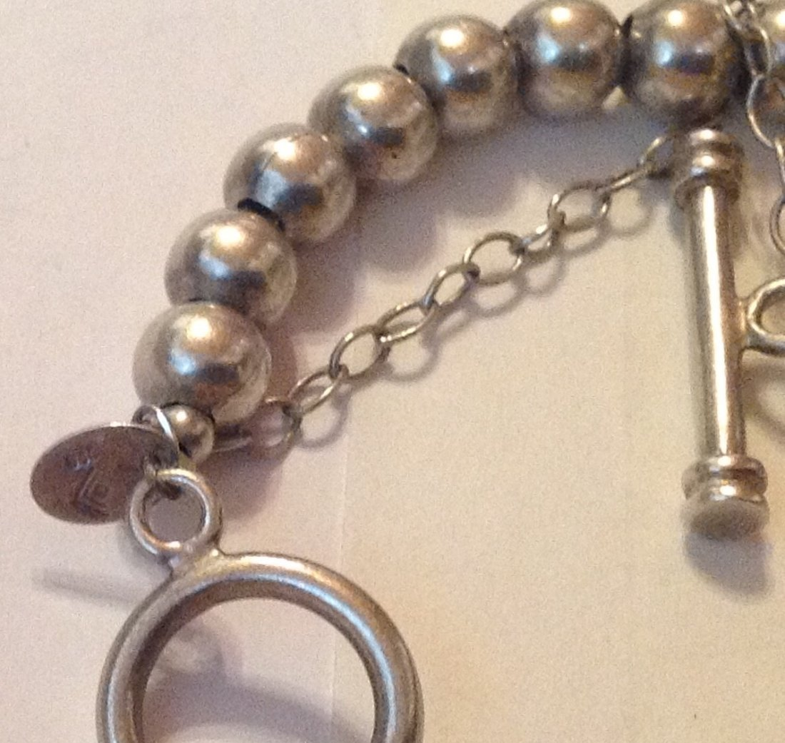 Estate Sterling silver Silpada ball bead bracelet - 3