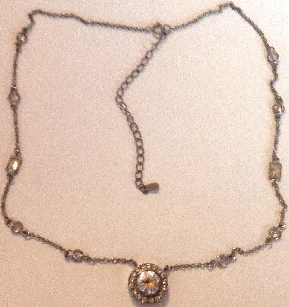 Estate Antique Victorian sterling choker necklace