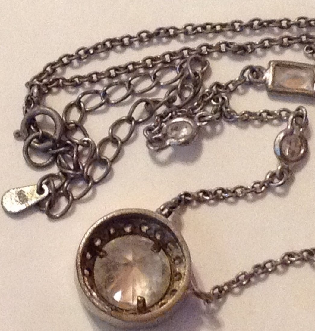 Estate Antique Victorian sterling choker necklace - 3