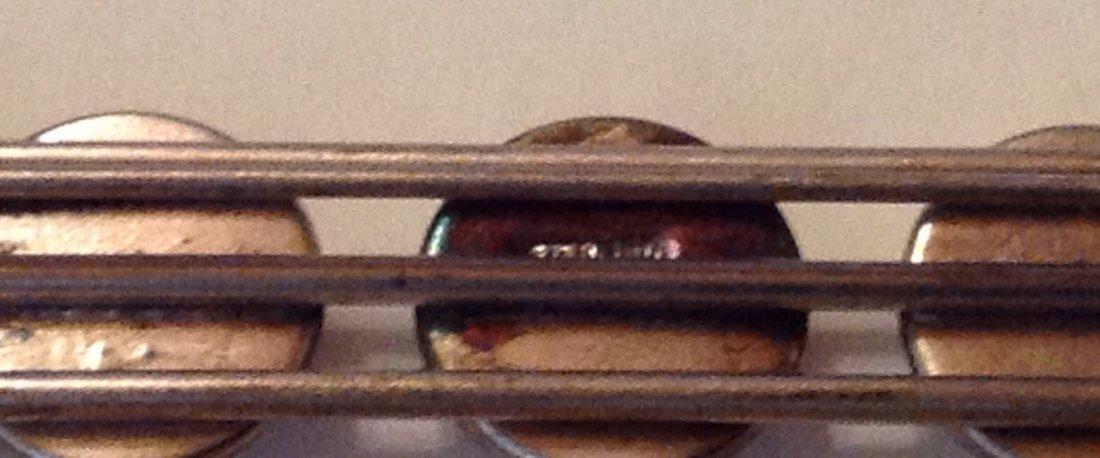 Estate Victorian sterling Essex crystal intaglio brooch - 3