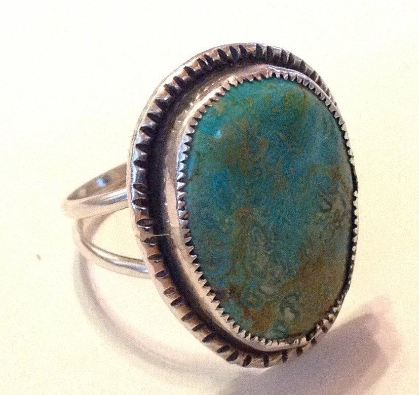 Estate vintage Navajo sterling royston turquoise ring